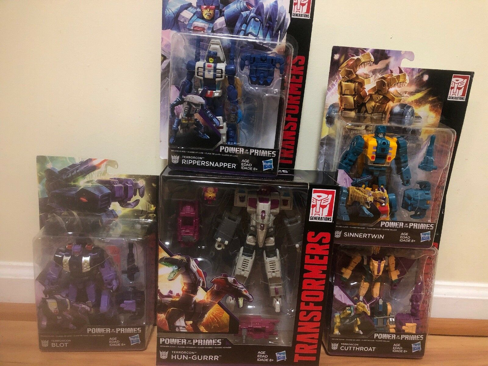 New Transformer Hasbro Power Of Primes Abominus Combiner 5pcs Set Collection