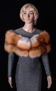 Selected Saga Furs Emerald Green Fox Shoulder Wrap Scarf Boa Stole