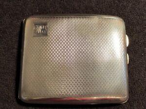 Vintage Art Deco Sterling Silver Cigarette Case 1928,John Rose-131.41g #GA