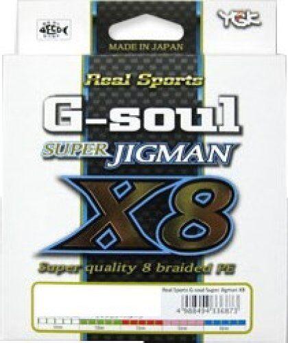 New G-soul SUPER JIGMAN X8 20Lbs (1.0) 300m 8 Braid PE Line YGK YOZ-AMI