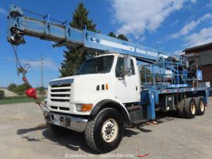 Ford LT9500 T/A 28-Ton Boom Truck Manitex M2892S Crane Bucket CAT bidadoo