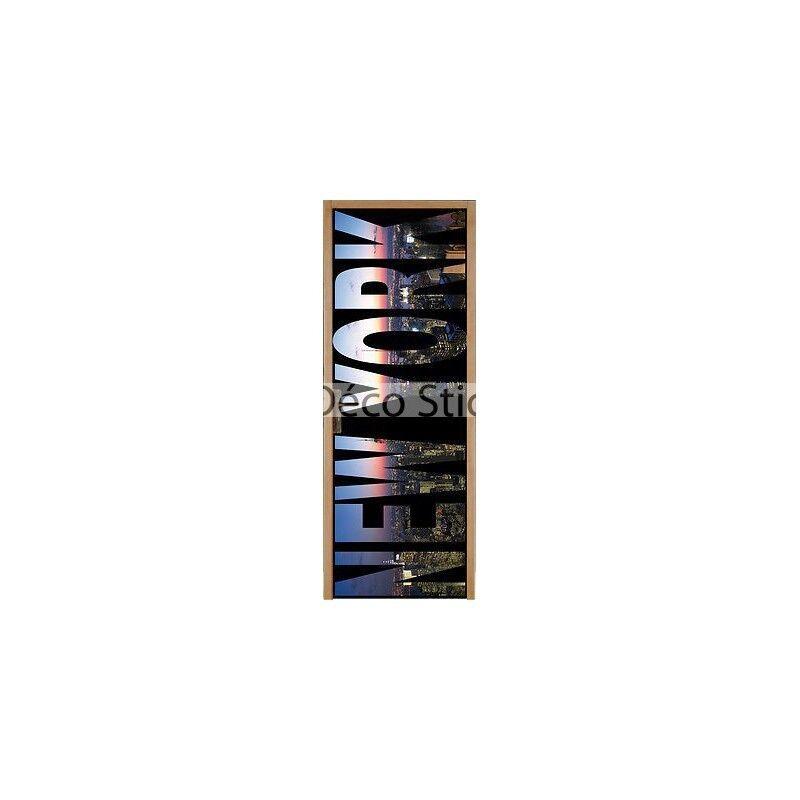Aufkleber für Tür Flach New York 93x204cm Ref 052 68ab4c66fbac