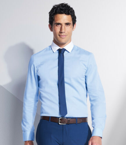 Fitted Cut Business Casual Work Office Wear Modern Formal SOL/'s Mens Shirt