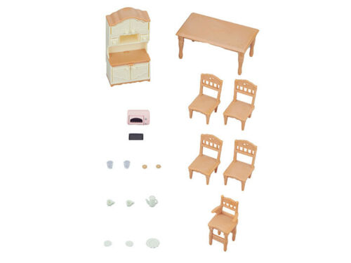 Sylvanian Families Calico Critters Furniture Dining Room Set