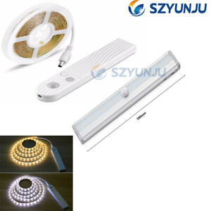 DC-5V-PIR-Motion-Sensor-LED-Cabinet-light-1m-2m-3m-Strip-tape-Under-Bed-lamp
