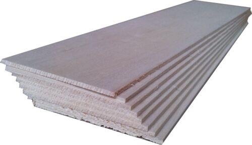 "BALSA WOOD 8 sheets 18/"" x 4/"" x 1//8/"" NEW 460mm x 100mm x 3mm"