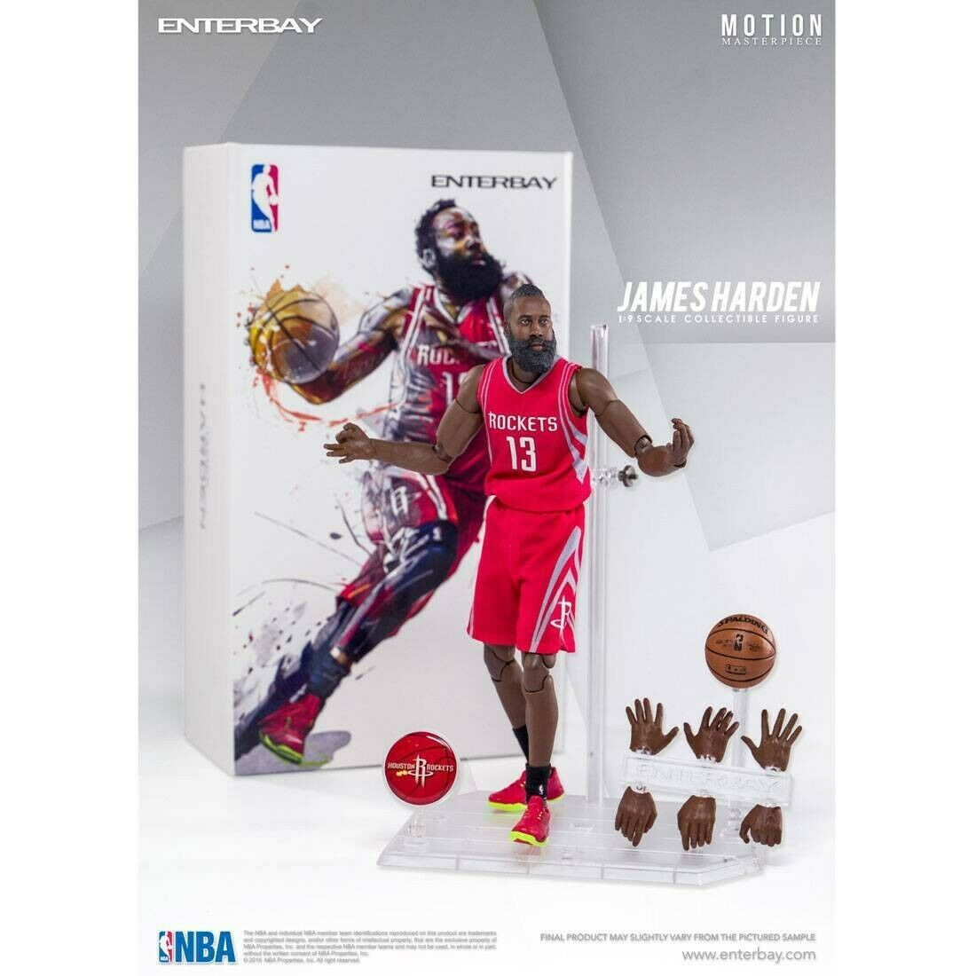 NBA x Enterbay James Harden 1 9 Scale 9 Inch Figure rot