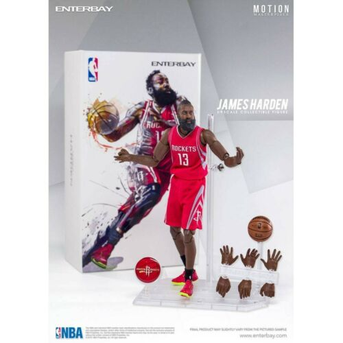 NBA x Enterbay James Harden 1//9 Scale 9 Inch Figure red