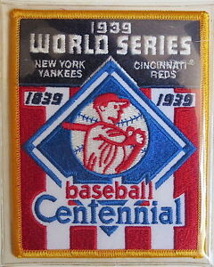 1939 WORLD SERIES ~ NEW YORK YANKEES / CINCINNATI REDS Willabee Ward PATCH ONLY