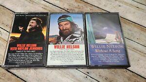 Willie Nelson Music Cassette Tape Lot of 3
