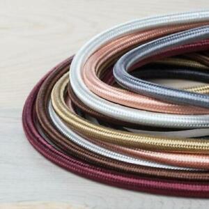 Tour de Bourgogne Tissu Tressé Câble 3 cœurs 0,5 mm câble Textil