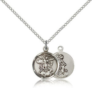Saint Michael The Archangel-Pendant Necklace 925 Sterling Silver Religious