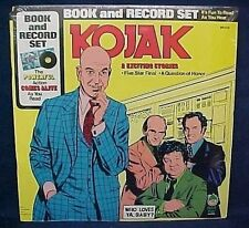Vintage 1977 Kojak Book & LP Record Set