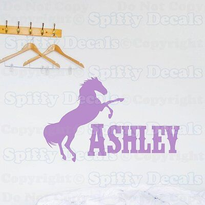 Custom Name Wall Decal Personalized Decal Girl Name Decal Horse Decal Horse Sticker