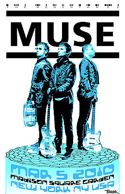 MUSE 2010 World Tour Repro Poster