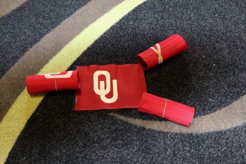 12 TO A ROLL University of Oklahoma Sooners Clip on Antenna Flag OU 4IN X 6IN.