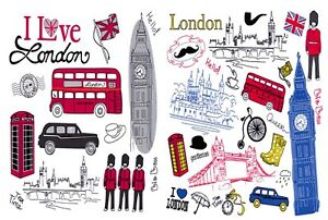 Pack-of-6-NEW-London-Postcards-England-UK-Icons-City-View-Travel-55L