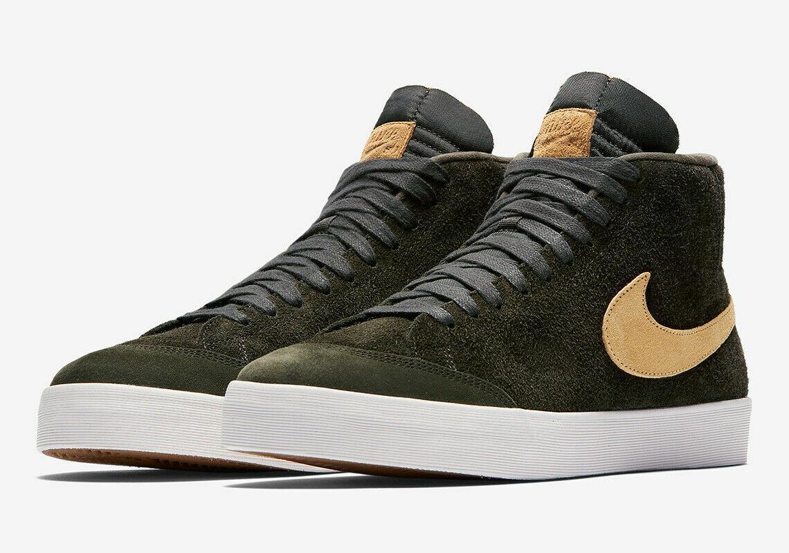 Nike SB Zoom Blazer Blazer Blazer Mid QS x Vi Club 58 Sequoia guld AH6158 -369 Storlek 10  Det finns fler märken av högkvalitativa varor