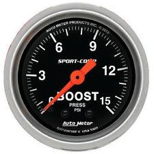 "Auto Meter Sport-Comp 0-15 Psi Mechanical Boost Pressure Gauge 2 1/16"" (52mm)"