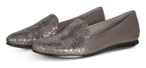 754932832621 NIB Ecco Touch Ballerina 2.0 Ballet Flat Scale Warm Gray Leather ...