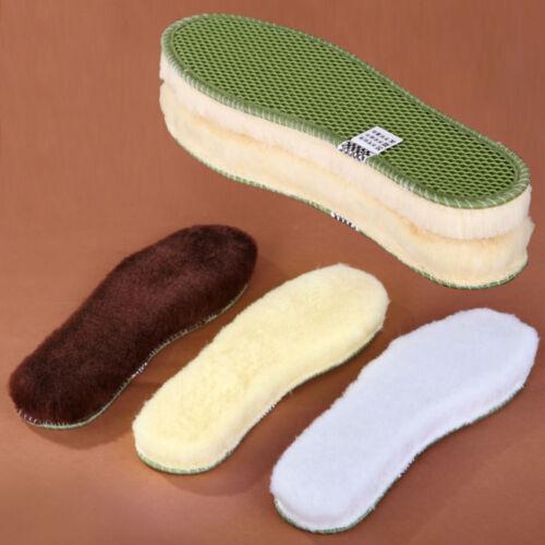 New Super Warm Lambs Wool Shoe Inserts Fleece Insoles Bamboo Charcoal Sole
