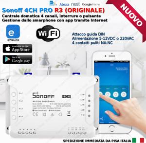 SONOFF 4 CANALI CH PRO Domotica interruttore pulsante telecomando WiFi APP