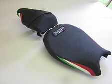 D08L Ducati 848 1098 1198 Seat covers with Italian flag colours-SET