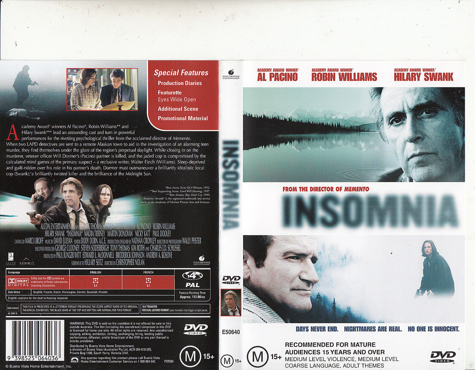 Insomnia-2002-Al Pacino-Movie-DVD 1