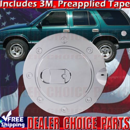 1994-2003 S10 Triple Chrome ABS Gas Door COVER Trim Overlay Fuel Cap Trim