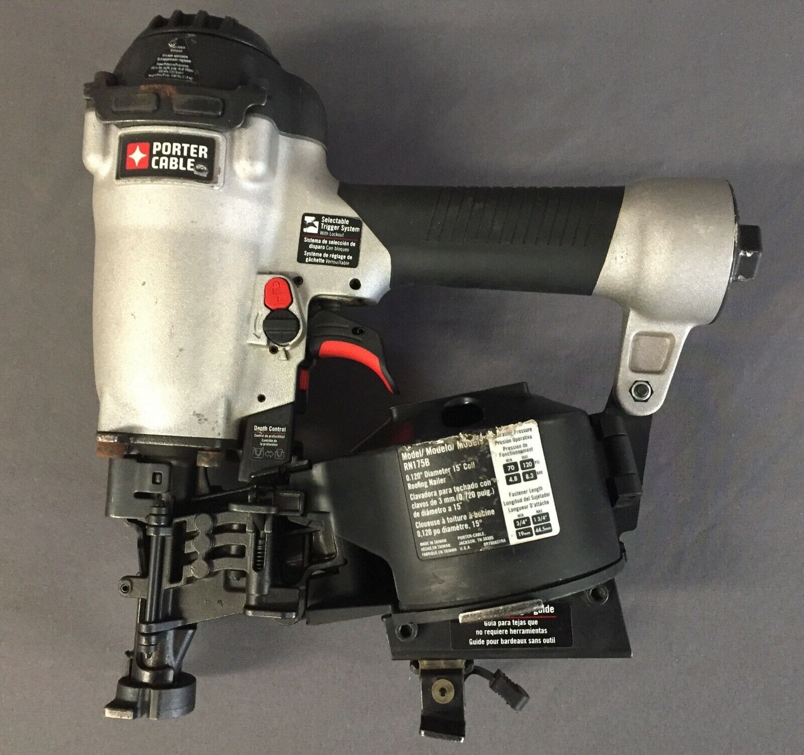 Porter-Cable 15 Degree 1-3 4 in. Coil Roofing Nailer RN175B