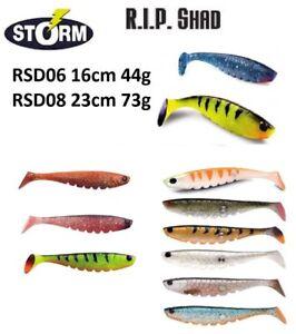 Storm-R-i-p-Pietra-Alosa-Morbido-Esche-Artificiali-Predatore-16cm-44g-23cm-73g