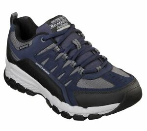 Skechers-Extra-Wide-Navy-shoes-Men-Memory-Foam-Casual-Comfort-Trail-Hiking-51585