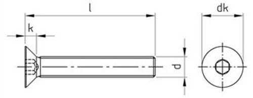 Din 7991 avellanados m8 hexágono interior punta con acero inoxidable a2 a4 diverse