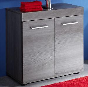waschbeckenunterschrank bad schrank grau sardegna bad m bel unterschrank runner ebay. Black Bedroom Furniture Sets. Home Design Ideas