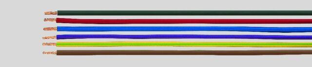 H07V-K 6qmm Litze Aderleitung H07 flexible Leitung schwarz, blau gelb grün braun