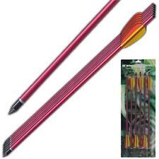 Crossbow Survival Arrow Equipment Aluminum Red Fletching 16 Inch