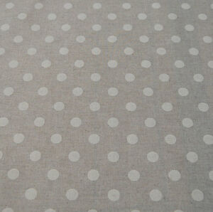 Oilcloth-table-linen-fabric-linen-French-polka-dot-design-wipeable-tablecloth