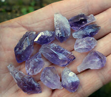 30 grams AMETHYST ROUGH SMALL / TINY PART POINTS 14mm - 20mm GIFT BAG & ID CARD