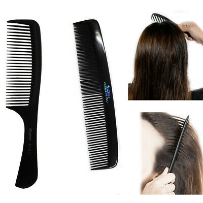 Detangling Hair Comb Black Frizz Control Professional Dry Wet Style Anti Static