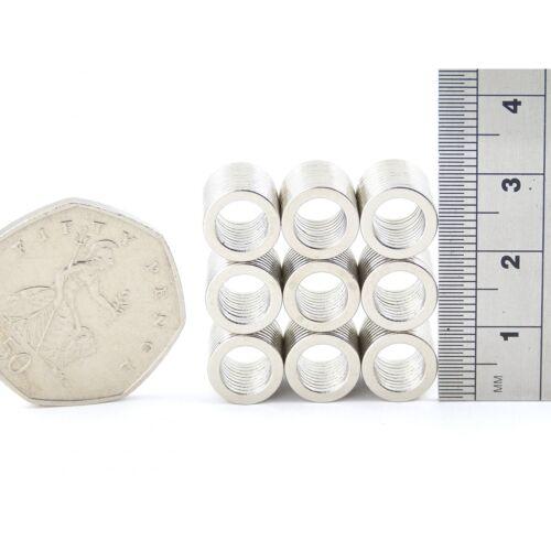 BULK PKS N52 9.5mm dia x 6.35mm dia x1mm Neodymium ring magnets DIY MRO craft