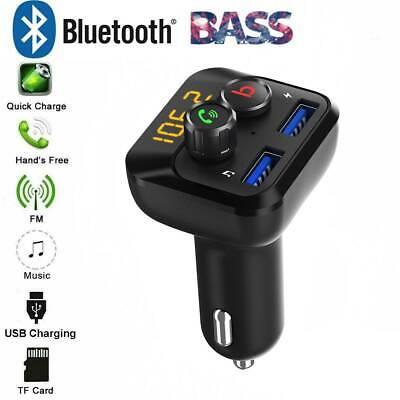 2C13 Bluetooth Adapter TF SD 12V Radio Handsfree FM Transmitter Car Charger