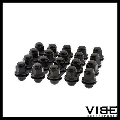 (20) M12X1.5 12X1.5 BLACK O.E OEM FACTORY STYLE WHEEL LUG NUTS FITS LEXUS