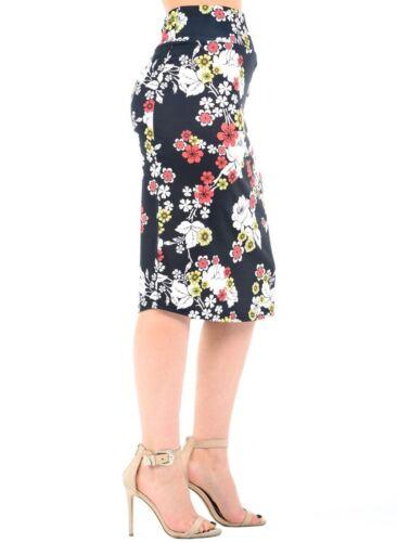 New Ladies Floral Print High Waist Pencil Bodycon Tube Wiggle Summer Midi Skirt