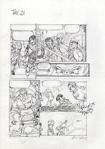 Disney Sergio Cabella Tavola Originale Matita Paperinik Ebay