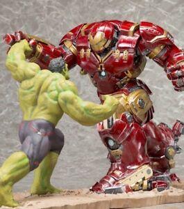 hulk vs iron man hulkbuster kotobukiya artfx statue set nib ebay