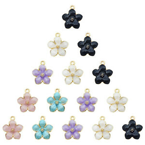 20pcs-Jewelry-DIY-Accessories-Enamel-Assorted-Daisy-Flower-Alloy-Pendants-Charms
