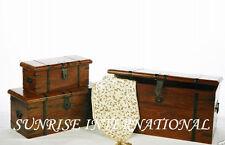 Furniture - Handcrafted Wooden Blanket Box (Set of 3)