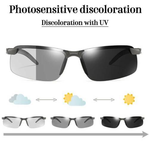 Men/'s Polarized Sports Eyewear Driving Glasses Photochromic Gradient Sunglasses