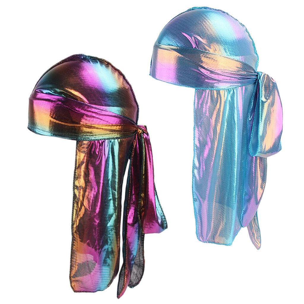 2 Stück Regenbogen Atmungsaktiv Bandana Hut Lappen Chemo Headwrap Schwanz