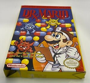 Dr. Mario (Nintendo Entertainment System, 1990) NES Game Manual and Box